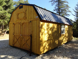 Old Hickory Sheds 10x16  Lofted Barn with Black Roof