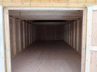 Old Hickory Sheds Inside 12x24  Lofted Barn