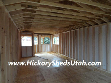 Old Hickory Sheds Deluxe Porch Utah