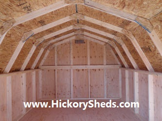 Old Hickory Sheds 10x12 Barn Inside