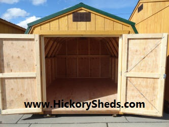 Old Hickory Sheds 10x12 Barn Double Doors
