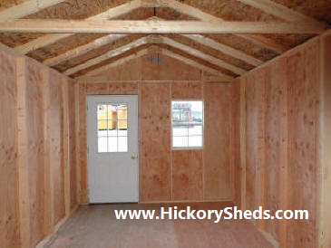 Inside an Old Hickory Sheds 10'x16' Cabin/Office