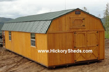 Old Hickory Sheds 14x40  Lofted Barn with the Playhouse Package
